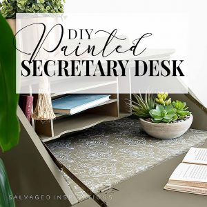 DIY Painted Thrift Store Secretary Desk IG