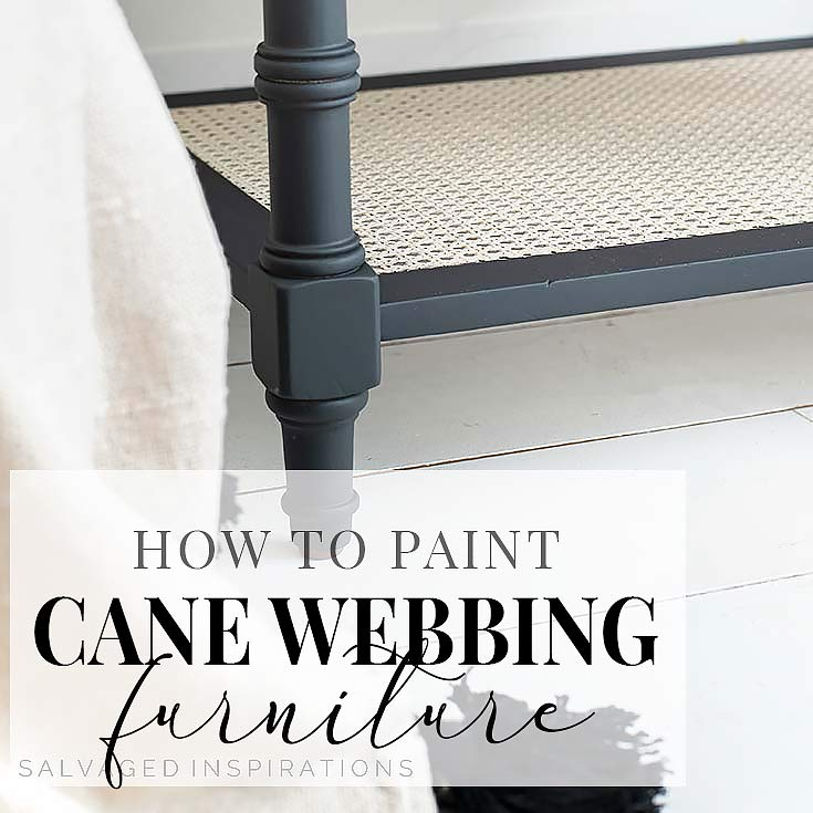 How To Paint Cane Webbing Side Table