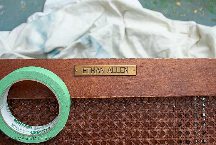 Masking Off Ethan Allen Emblum_