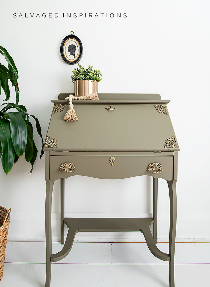 Painted Secretary Desk SALVAGED INSPIRATIONS