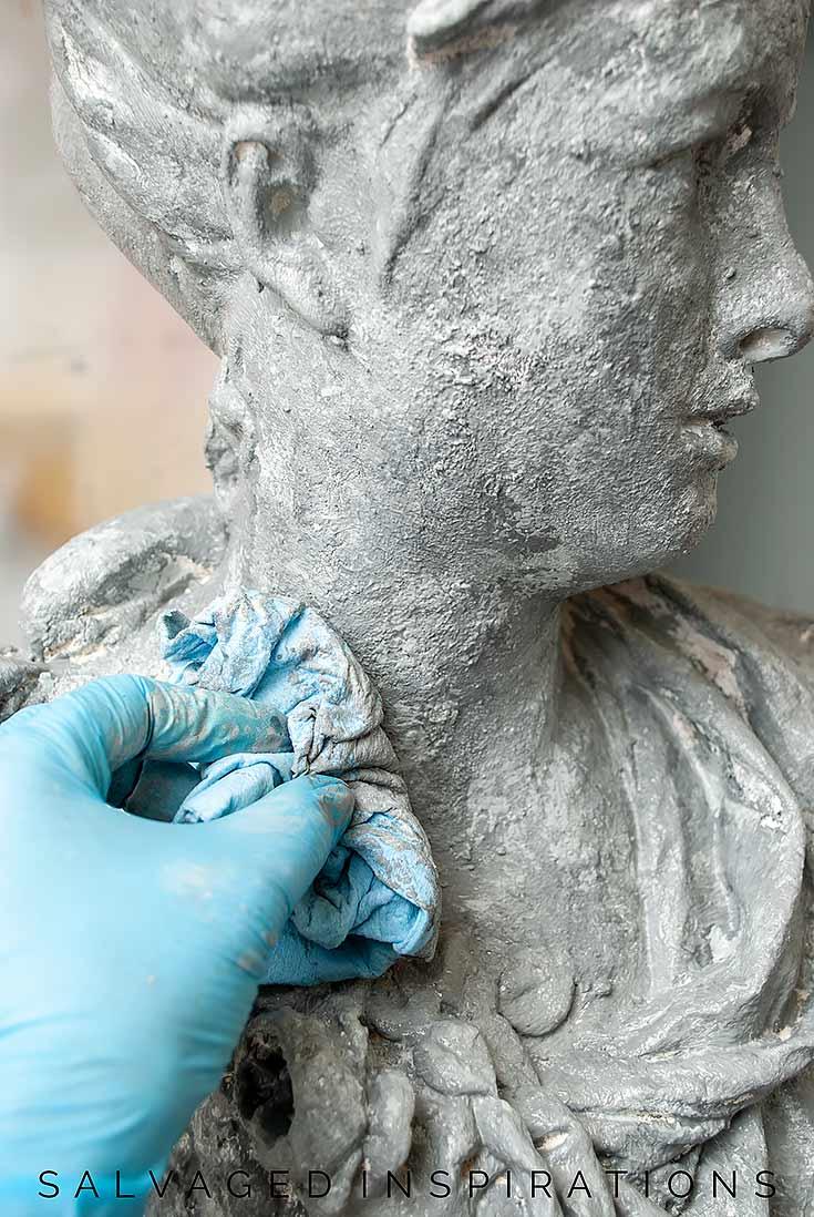 Painting Faux Concrete on Planter Face