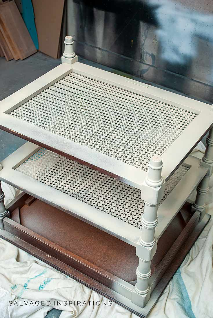 Spraying Cane Side Table