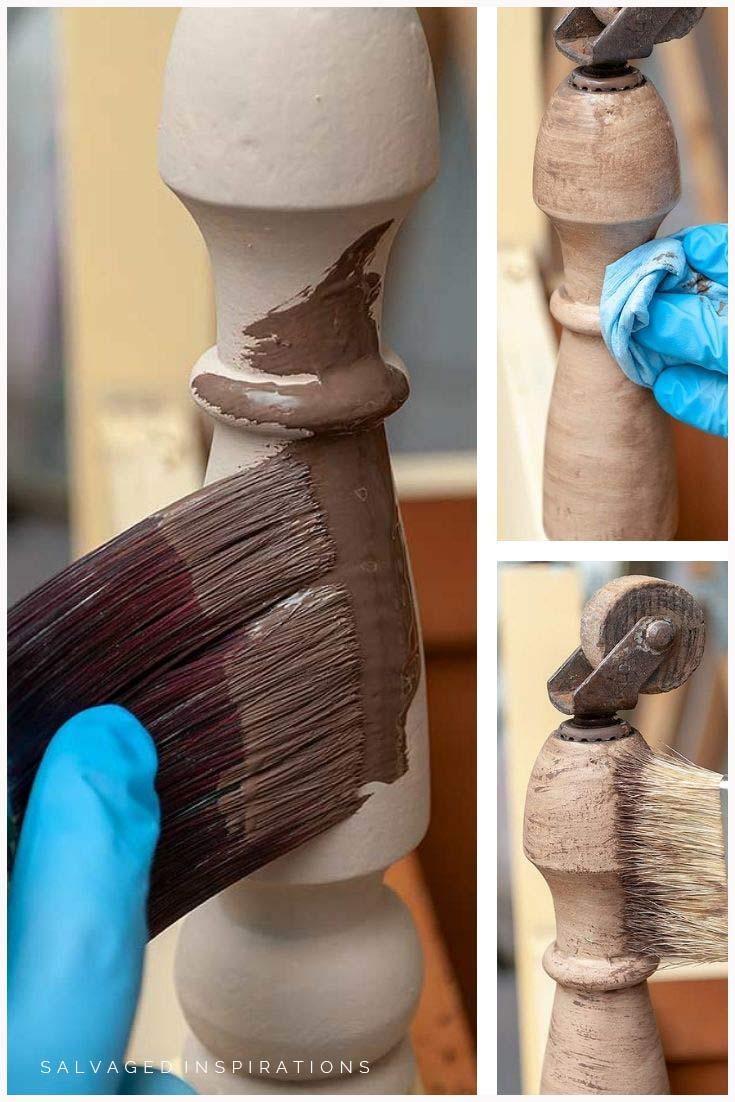 3 Step Faux Wood Paint Finish