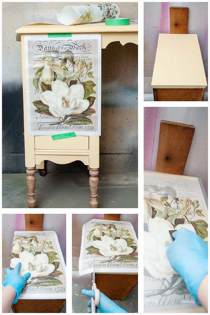 Desk with Furniture Transfers