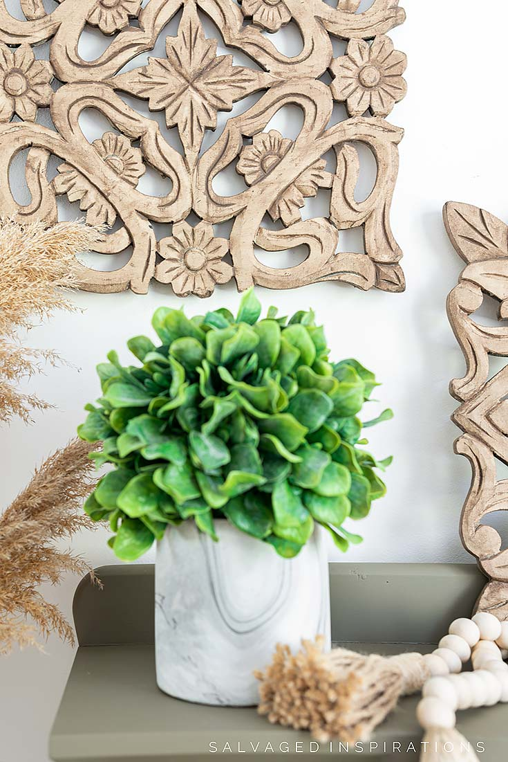 DIY Wood Painted Finish on Carved Wall Art