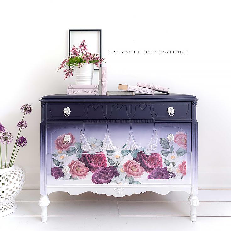 Floral Romance Dresser Redo IG Salvaged Inspirations
