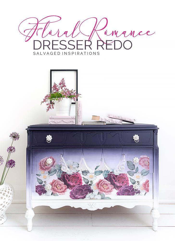 Floral Romance Dresser Redo SalvagedInspirations