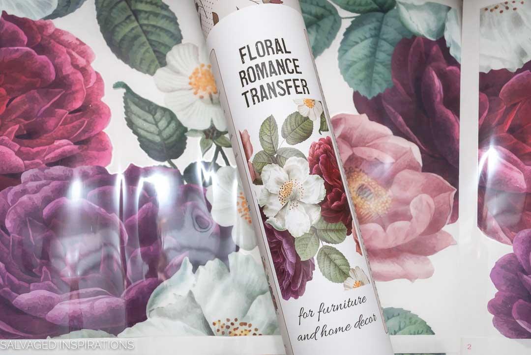 Floral Romance Painted Dresser w Transfer-10