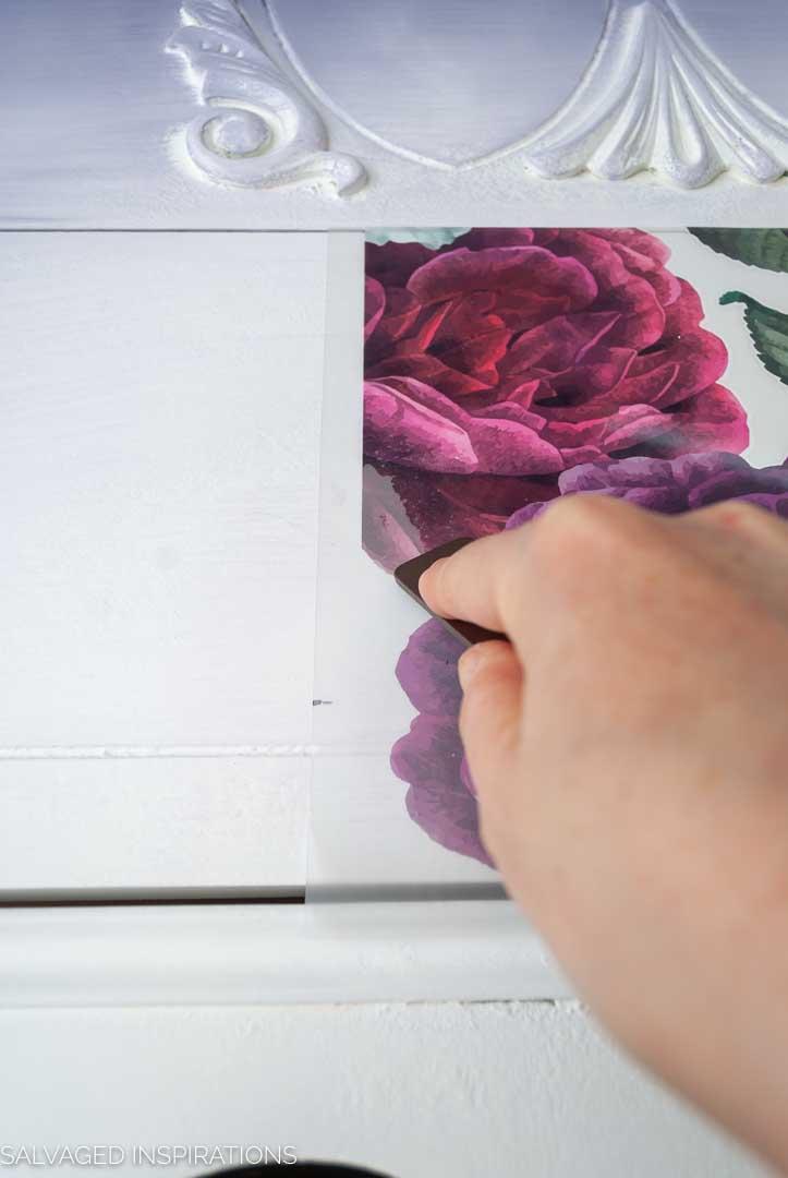 Floral Romance Painted Dresser w Transfer-24