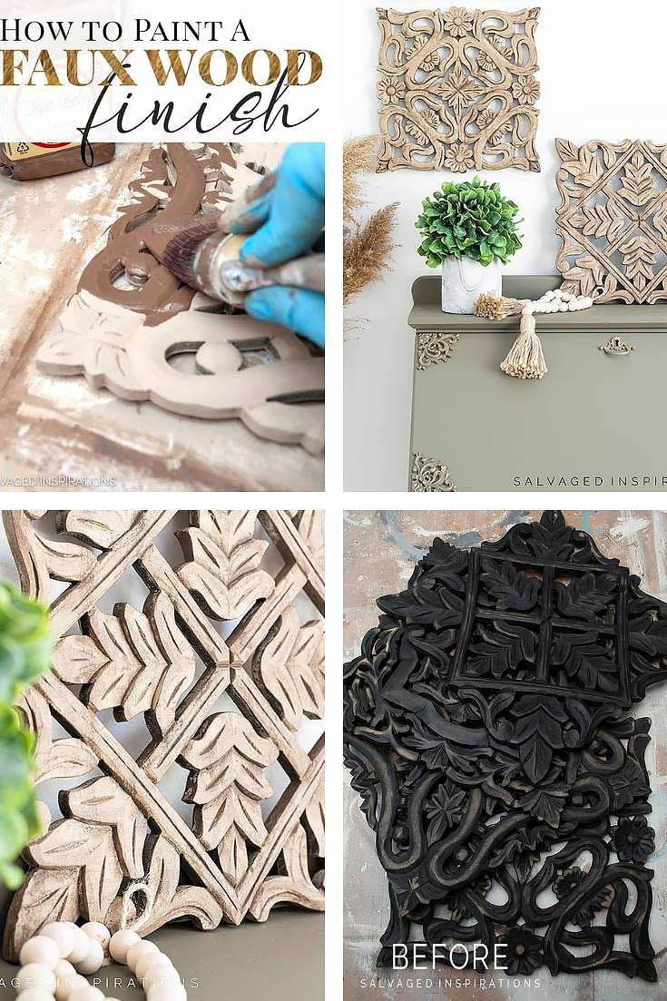 How To Paint A Faux Wood Finish Collage