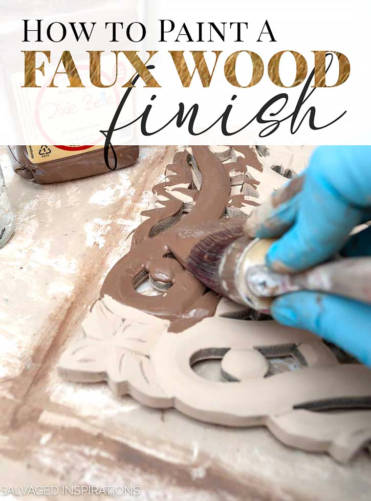 How to Paint A Faux Wood Finish Tutorial