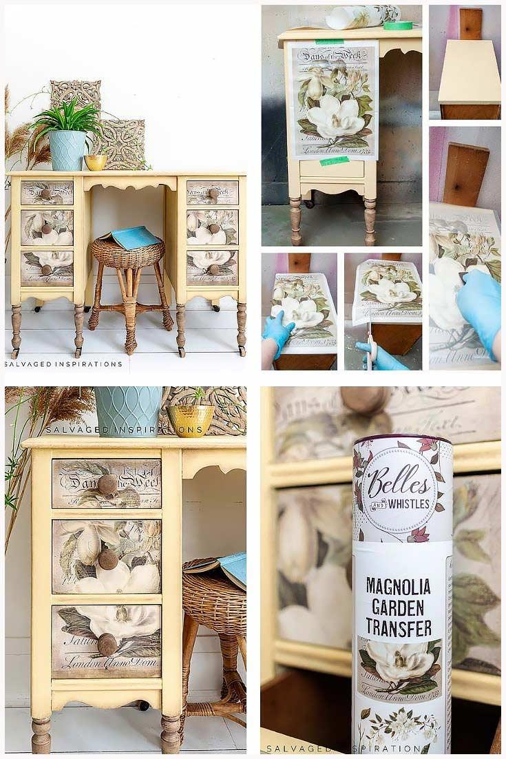 Magnolia Garden Transfer Collage