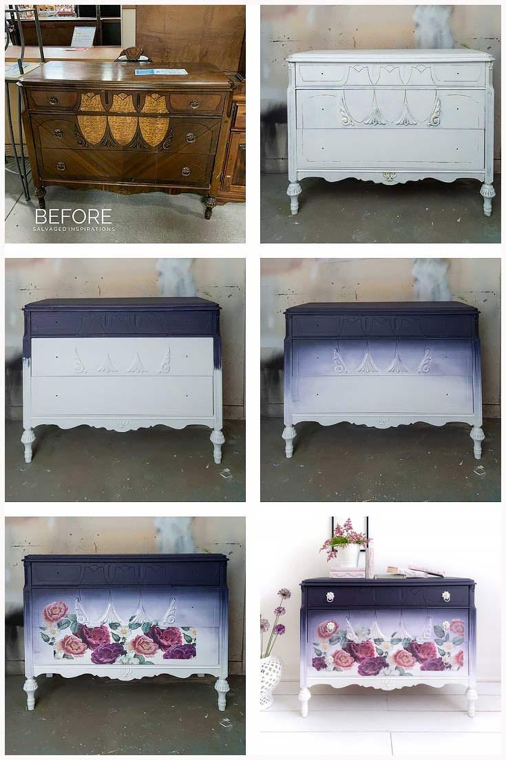 Steps for Painted Dresser Redo