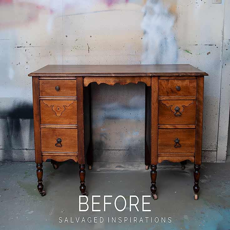 Vintage Desk Makeover Before