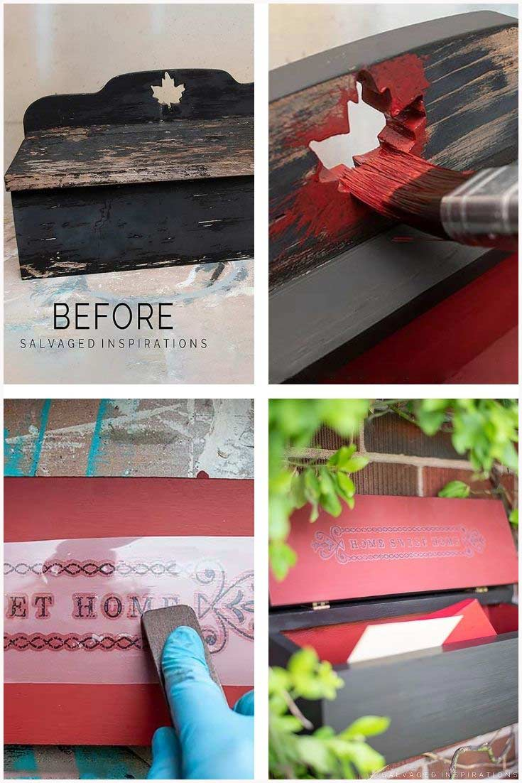 Before And After Mailbox Makeover Collage