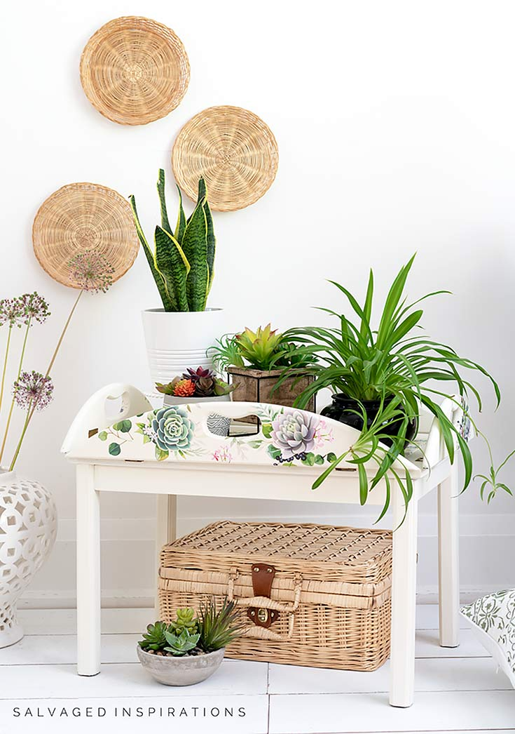 Butlers Tray Table Makeover_