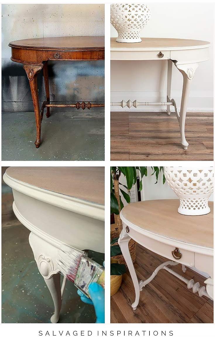 Hallway Table Makeover Collage