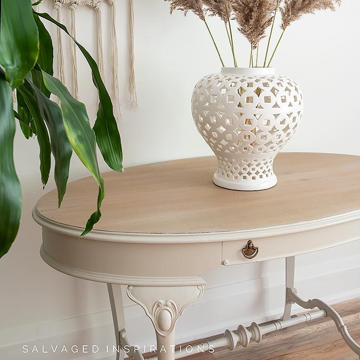 Side View of Vintage Hallway Table IG