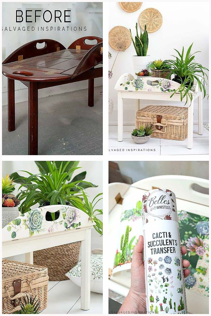 Tray Table Makeover Collage