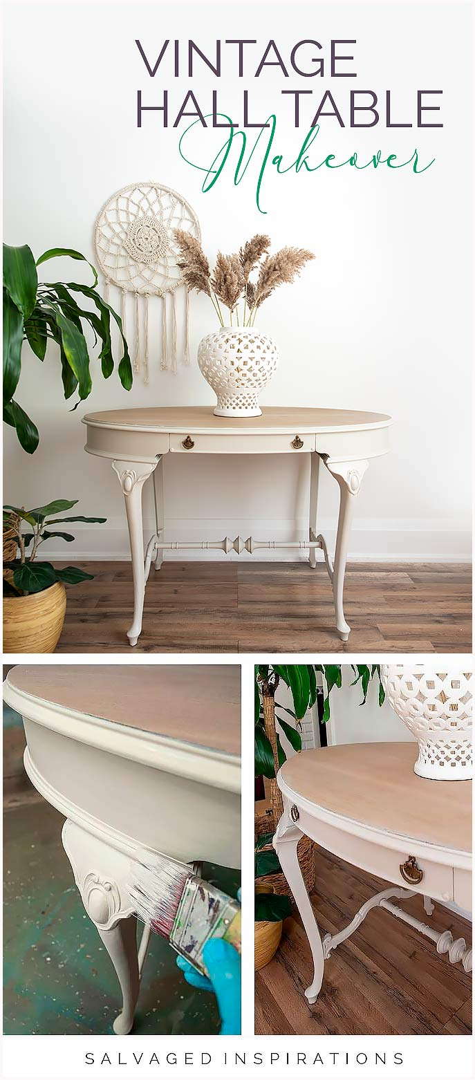 Vintage Hall Table Makeover PIN