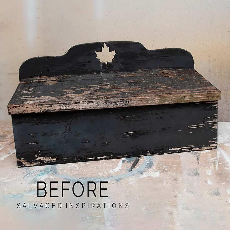 Wood Mail Box Before