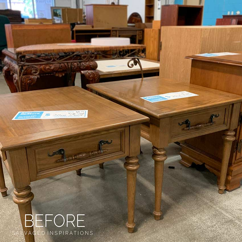 Before Twin Restore Side Tables