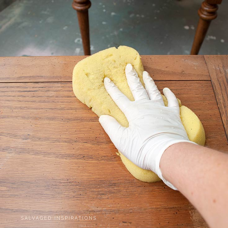 Cleaning Tables w Furniture Cleaner