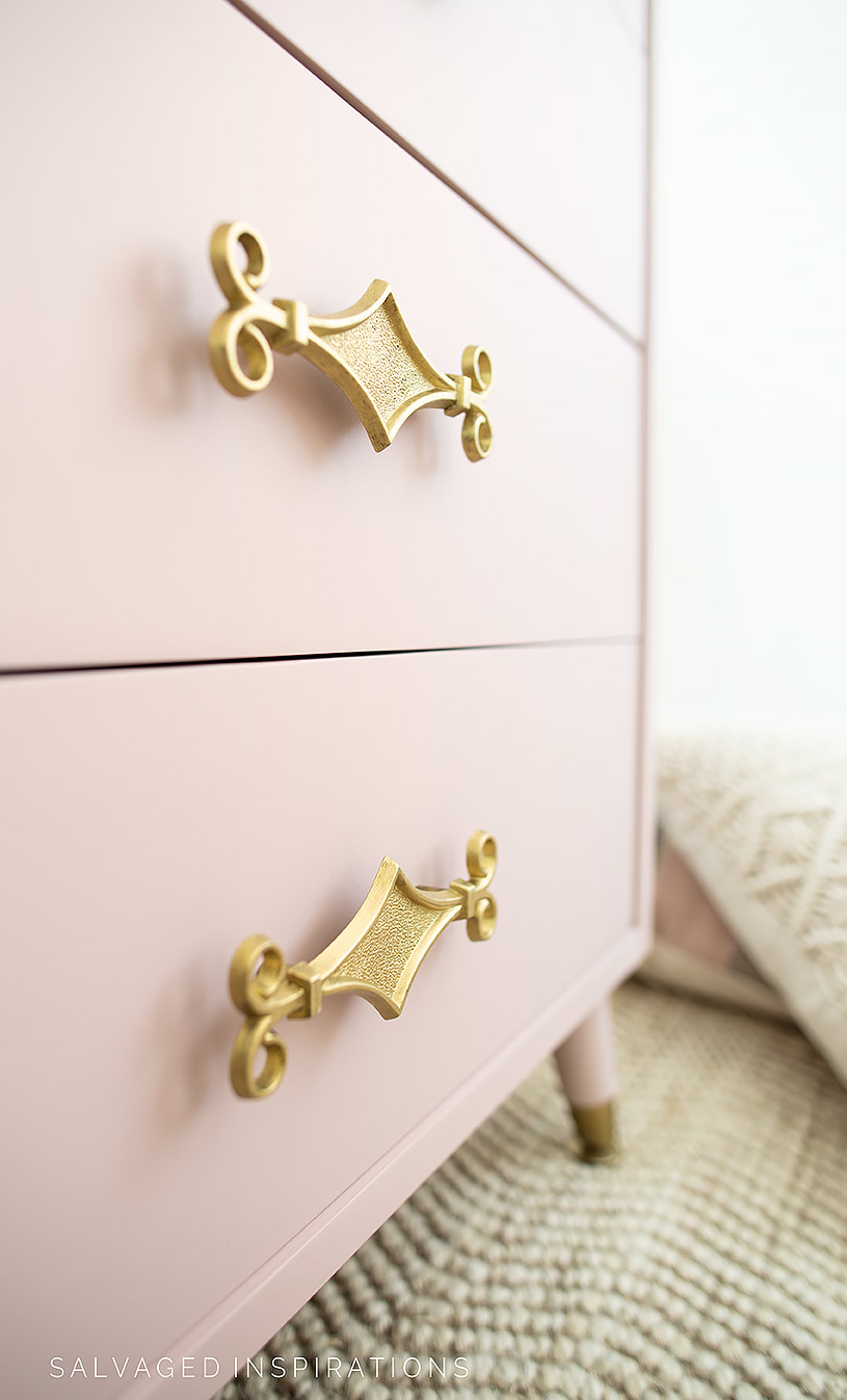 Close Up of Painted Dresser Hardware