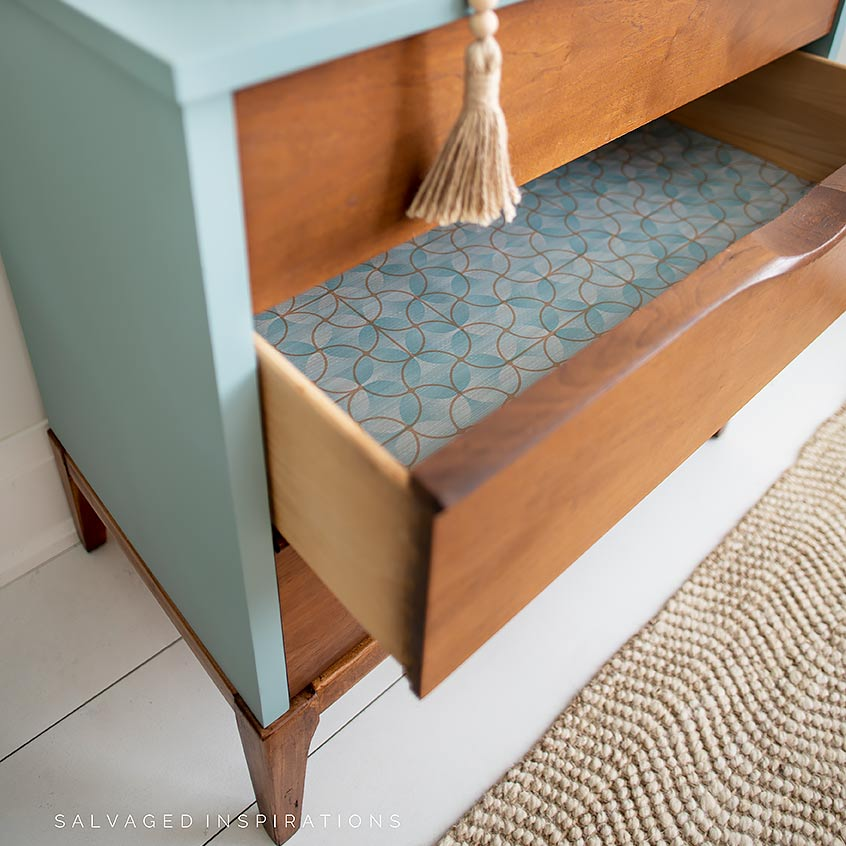 Lined Drawers on MCM Dresser IG