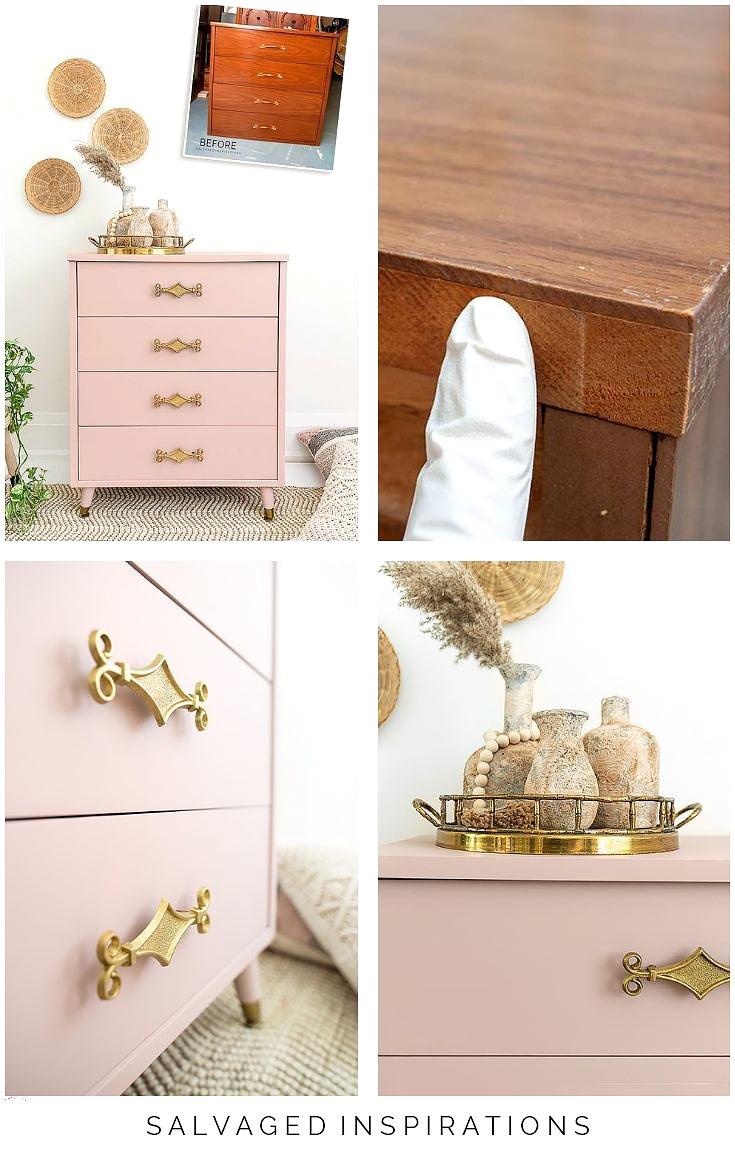 Painted Laminate Dresser Collage