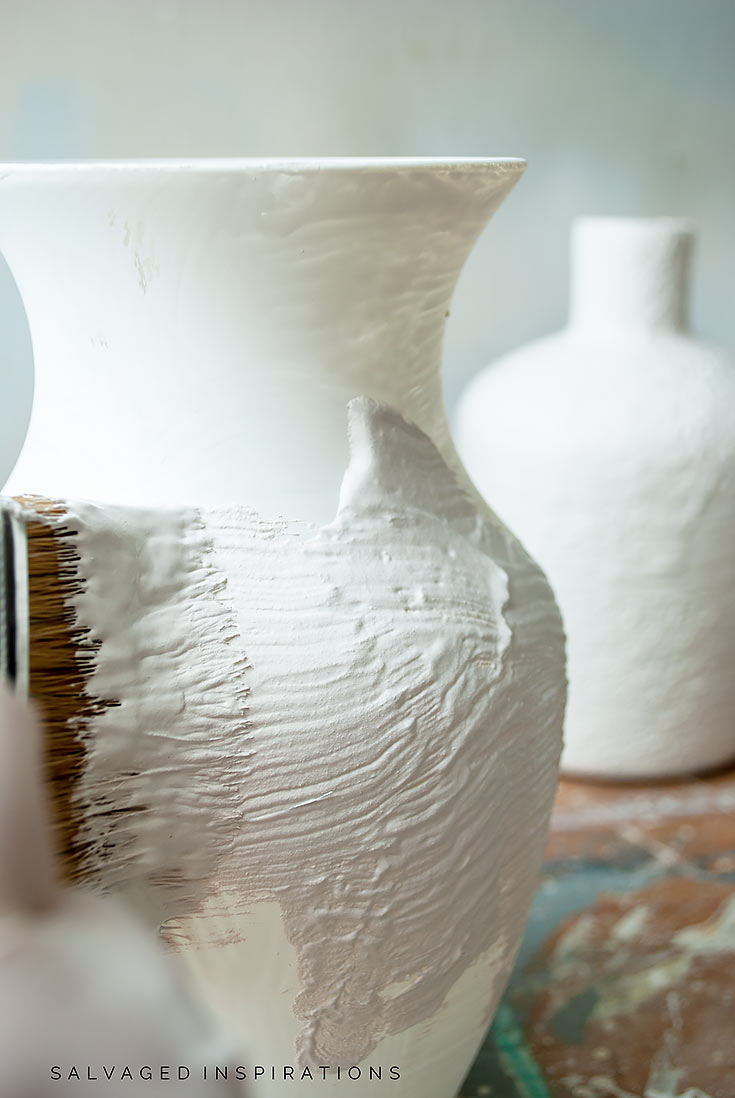 Painting Texture on Glass Vase