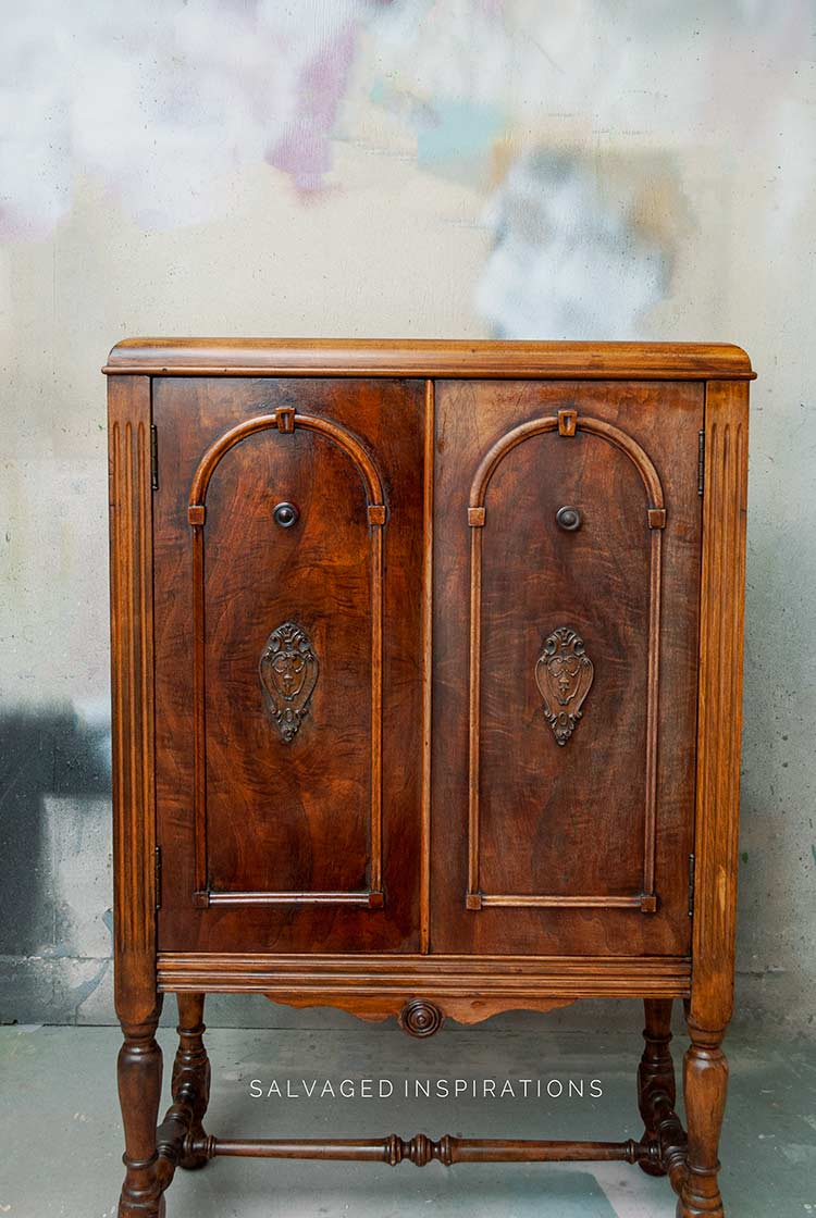 Before and After Hemp Oil Wood Cabinet