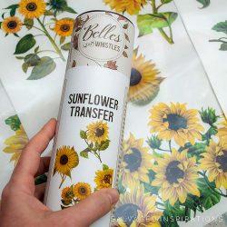 Belles And Whistles Sunflower Transfer