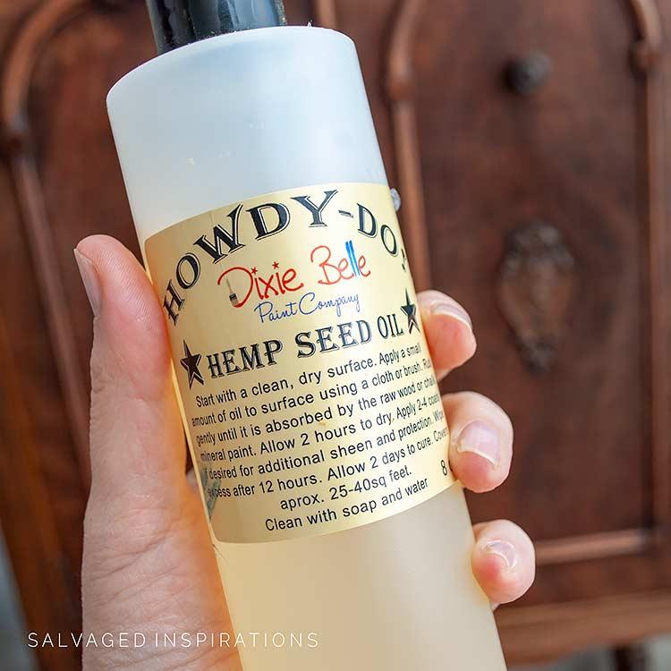 Bottle Of Hemp Seed Oil