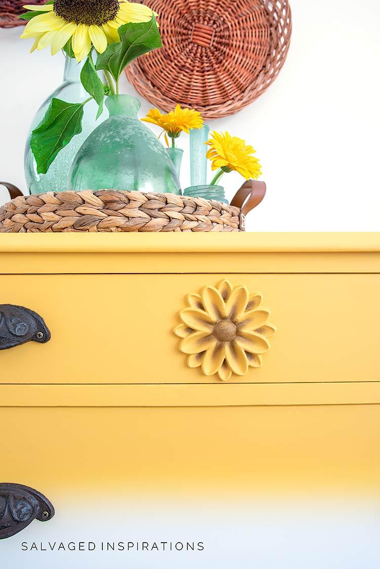 Close Up Of WoodUbend Moulding On Dresser