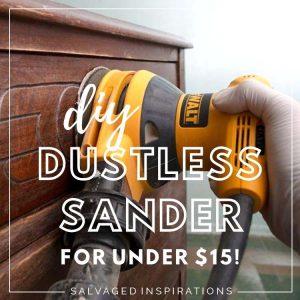 DIY DUSTLESS SANDER FOR UNDER $15