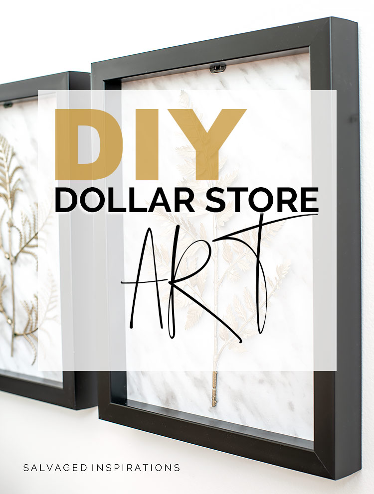 DIY Dollar Store Art text