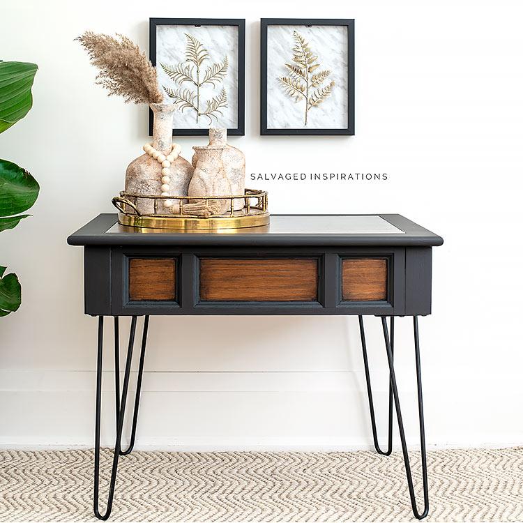 Dollar Store Art Over Pin Leg Table
