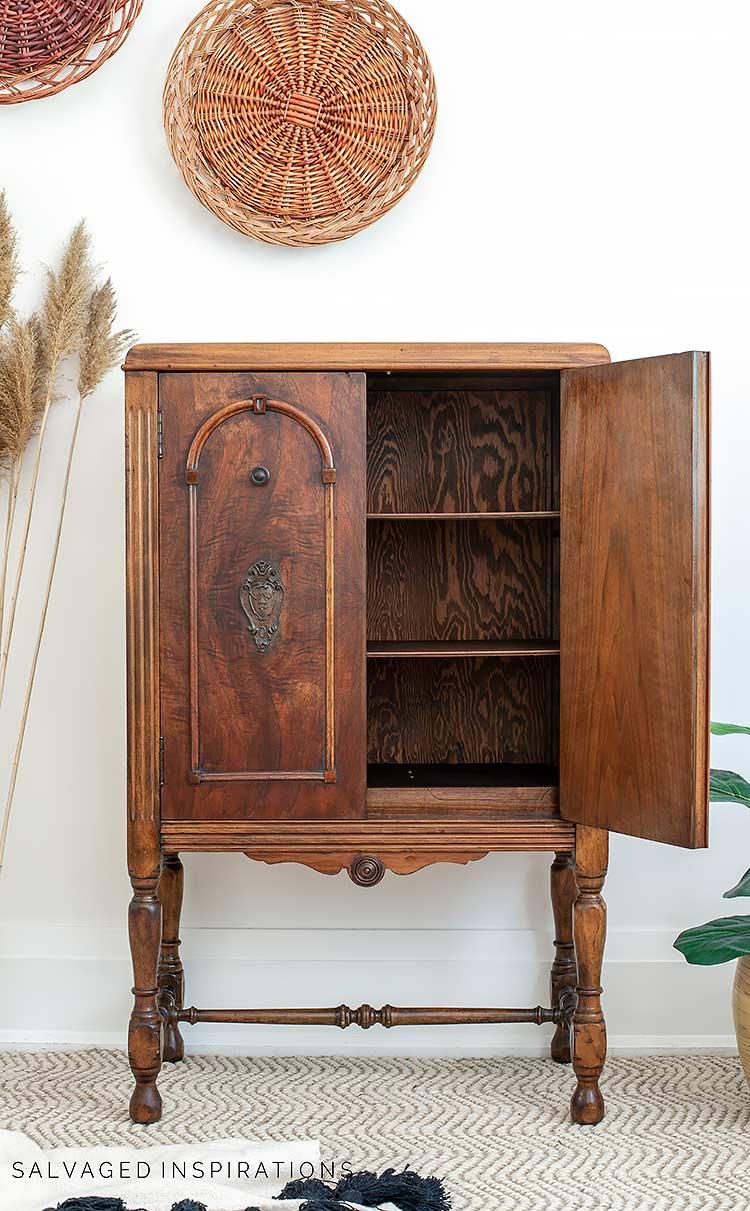 Hemp Oil Finish on Wood Cabinet