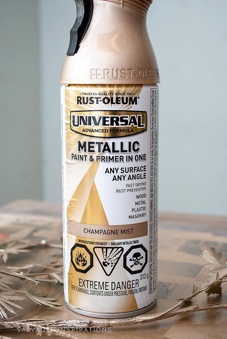 Rustoleum Metallic Champagne Mist