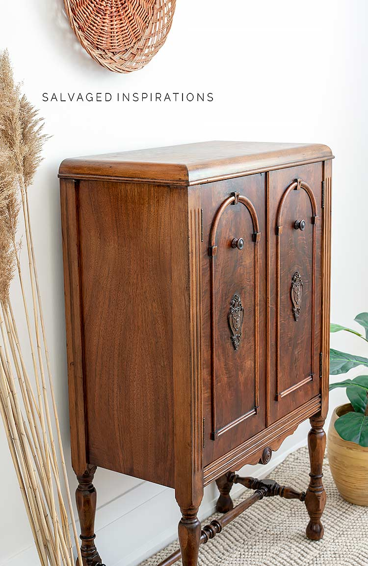 Side View Of Hemp Oiled Cabinet