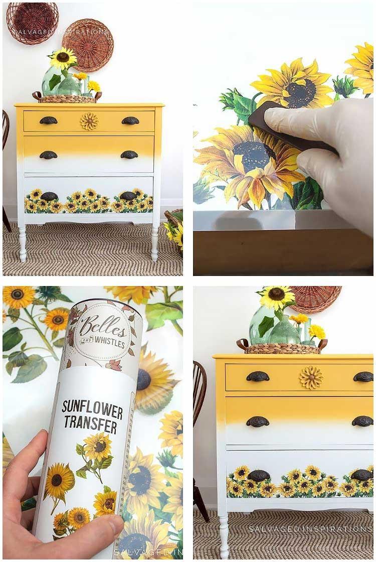 Sunflower Transfer Collage