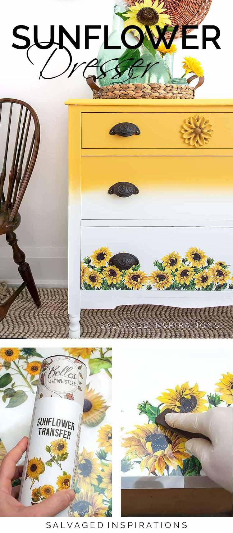 Sunflower Transfer Dresser PIN