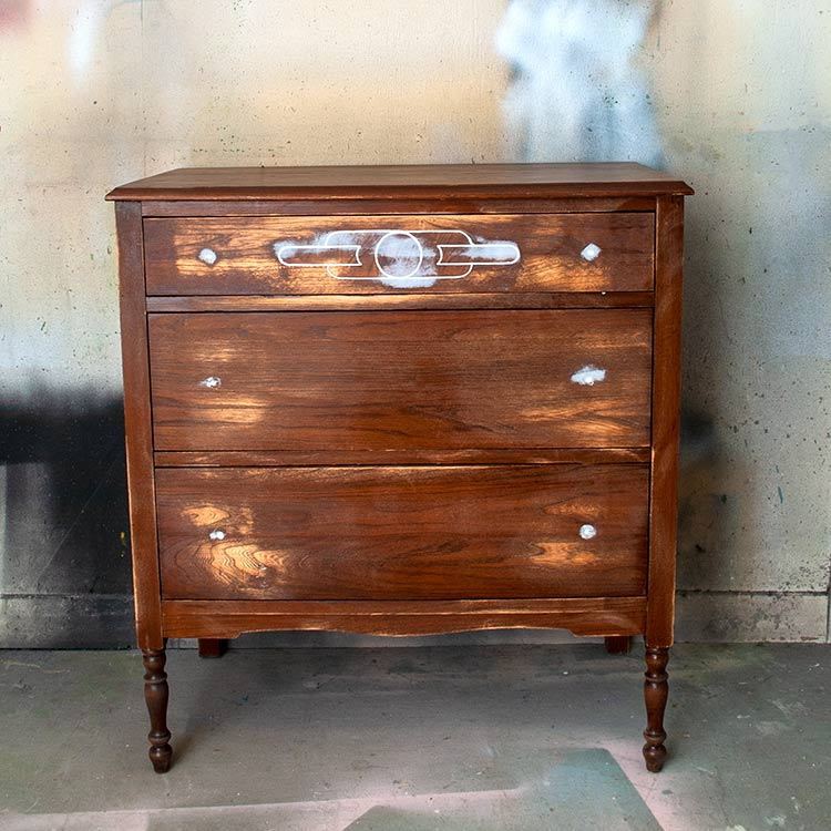 Vintage Dresser In Progress