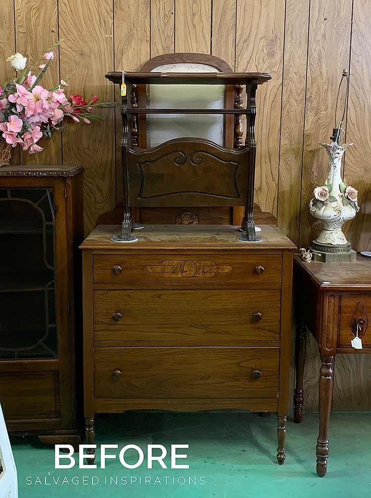 Vintage Dresser in Store Before