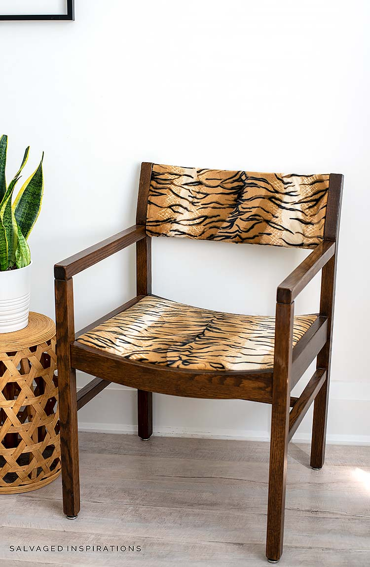 Animal Print Accent Chair