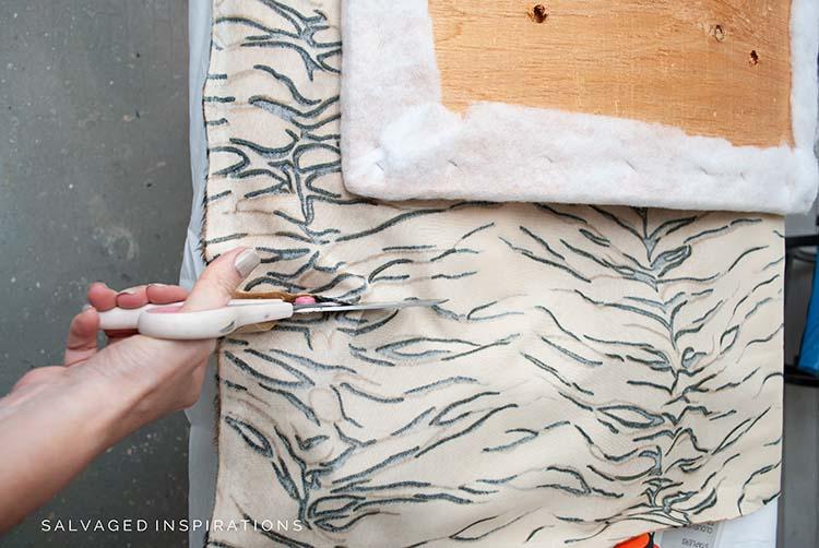 Cutting Chair Seat Fabric