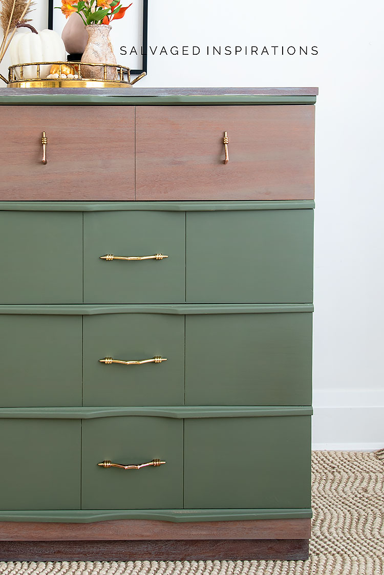 Fall Painted MCM Dresser in Dixie Belle