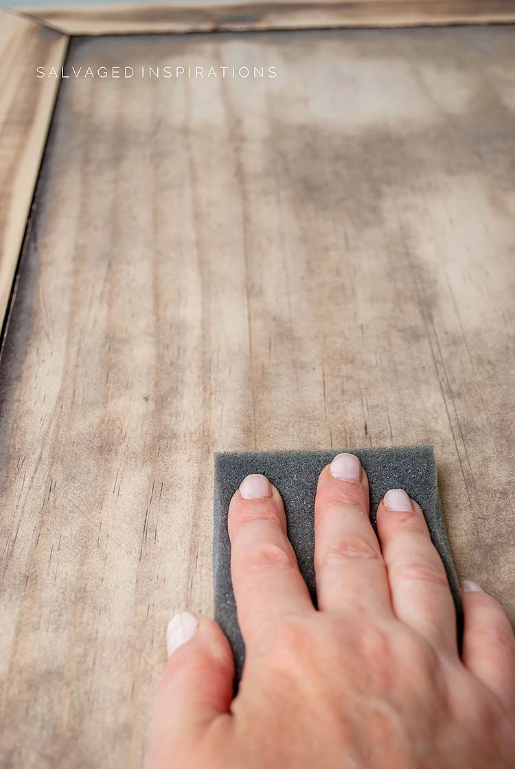 Hand Sanding Table Top