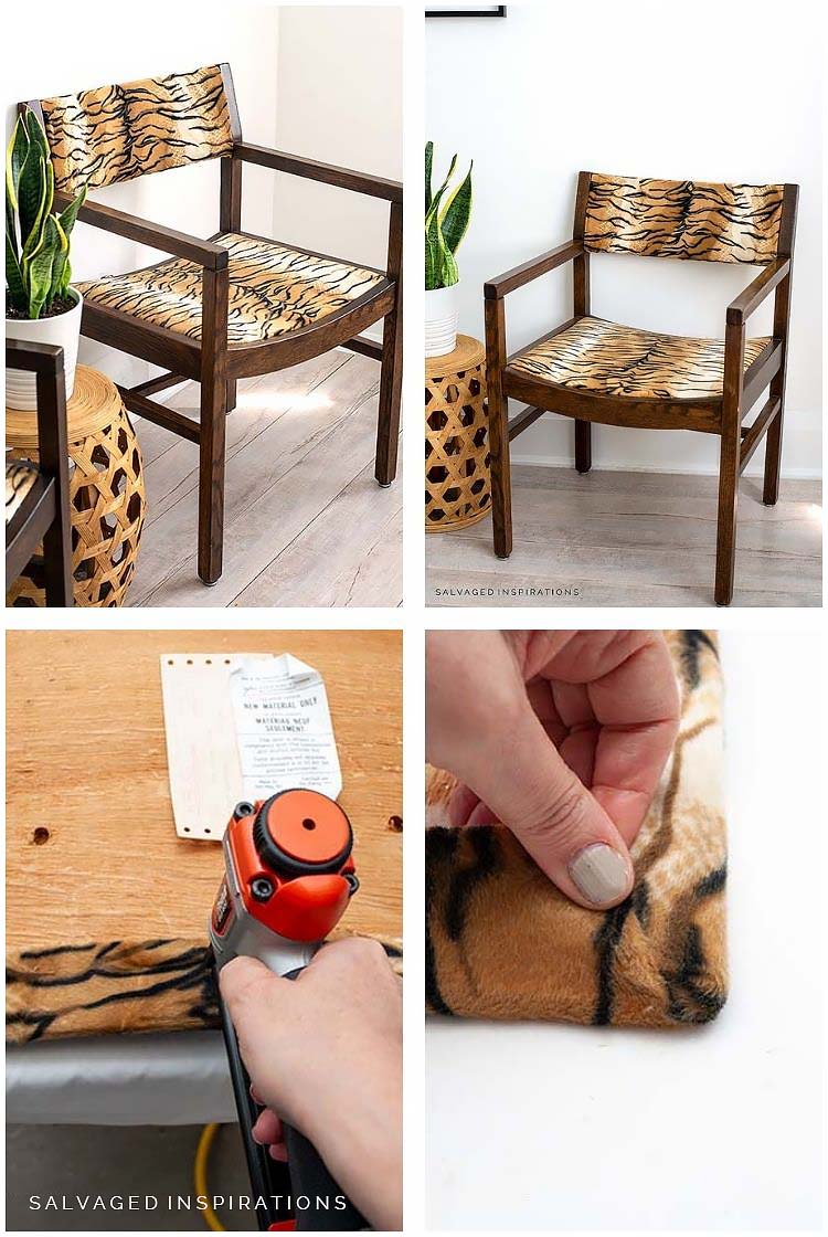 How to ReUpholster A Chair Seat Collage